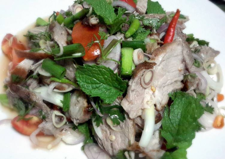 Kanya's Spicy Pork Salad with Lemongrass and Mints