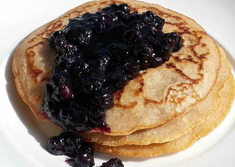 Pancake Top Blueberry  Compote