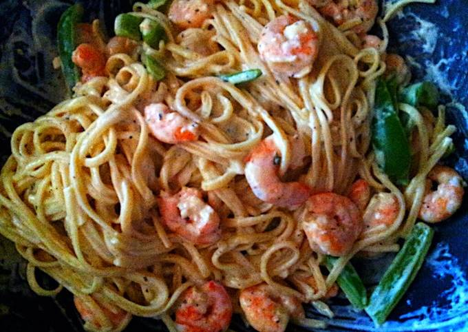 PHILADELPHIA cooking creme.. spaghetti with shrimp