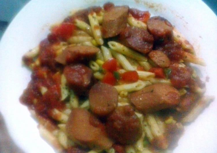 Simple Way to Prepare Award-winning Penne Pasta with sausage