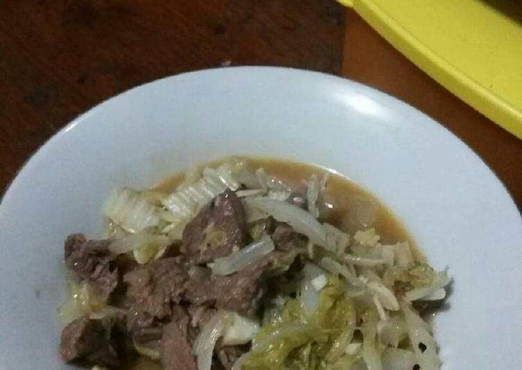 Cara membuat Diet mayo hari 1 – Tumis daging blackpaper (makan malam)