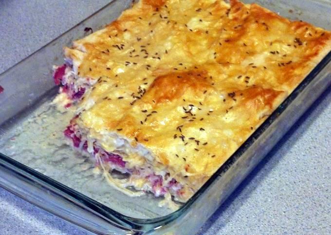 Janice's Reuben  Crescent Bake