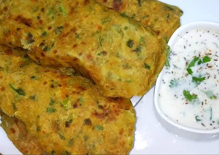 Top 10 Dinner Easy Cooking Broken wheat and fenugreek leaves paratha/ Daliya methi paratha