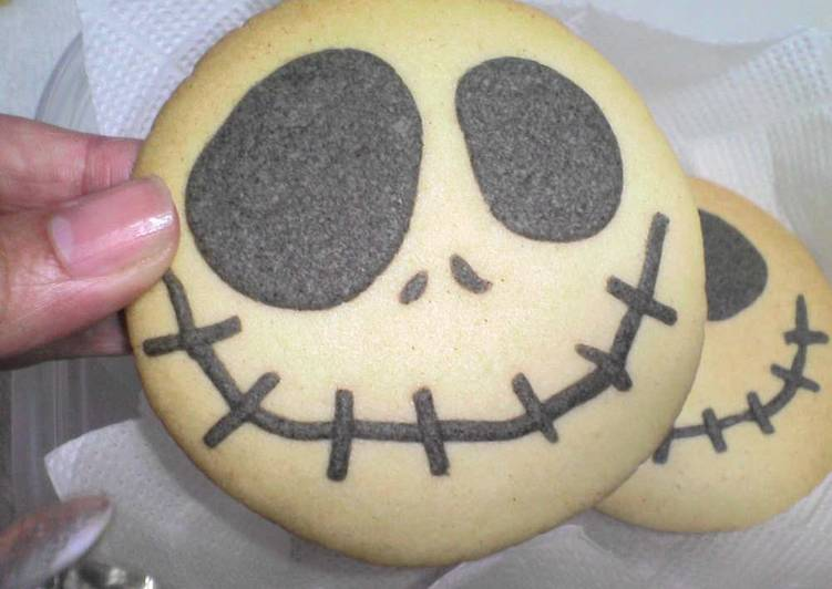 Jack Cookies for Halloween with Black Sesame