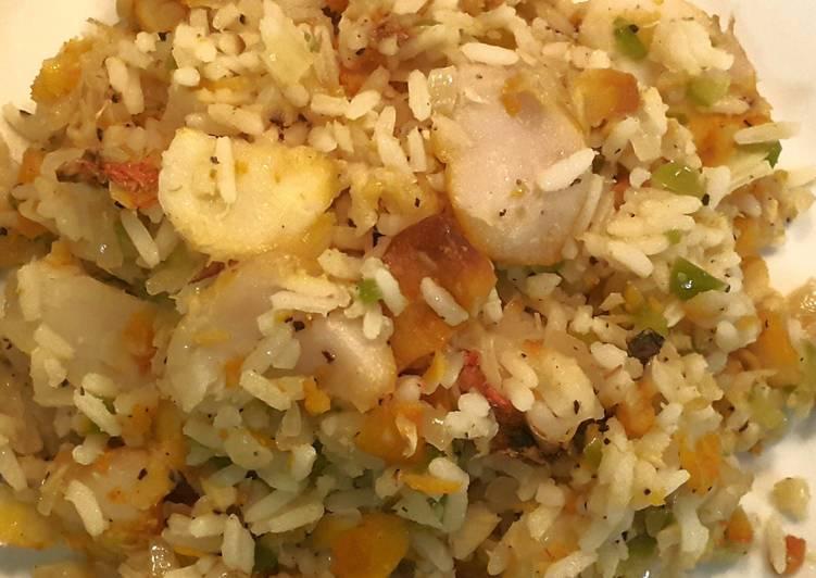 Recipe of Ultimate Easy Haddock & Rice Dish.