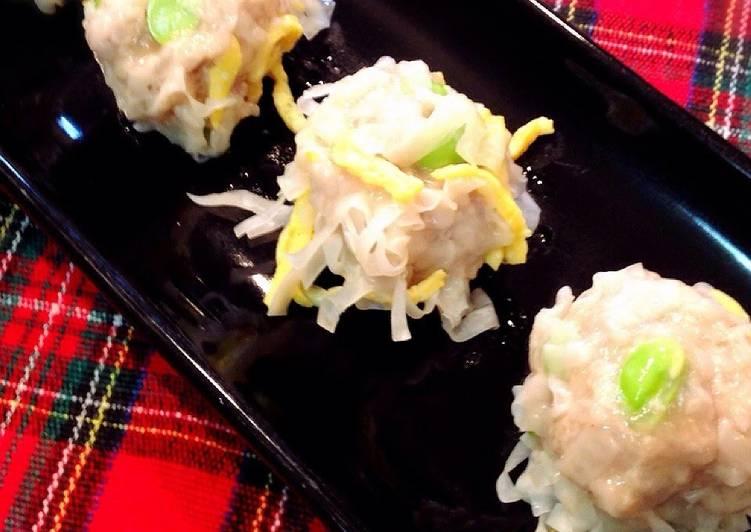 Steps to Prepare Ultimate Bursting with Edamame! Shumai Dumplings with Wings