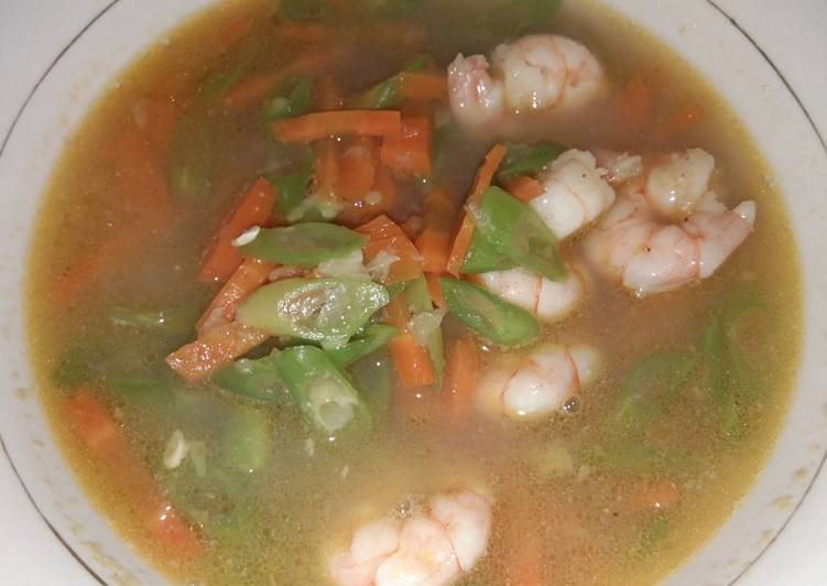 Sup wortel buncis udang