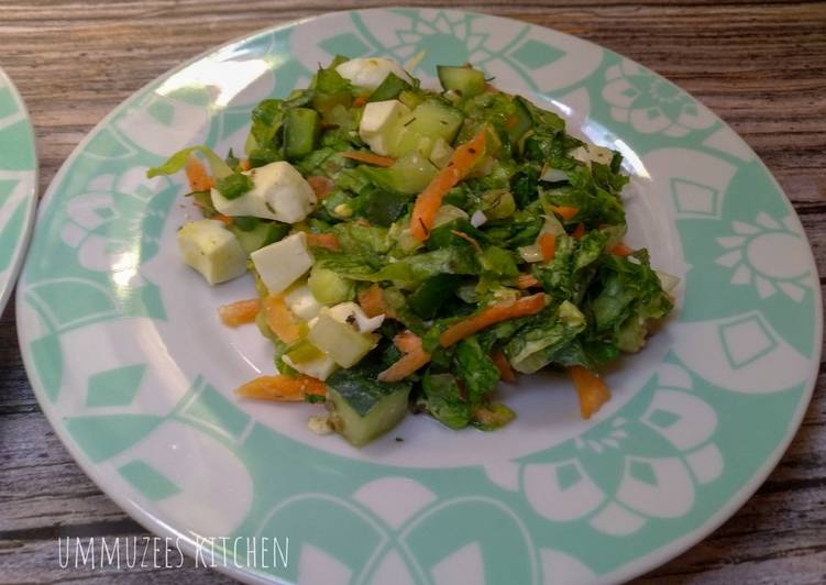 Simple Way to Make Favorite Salad with Homemade dressing
