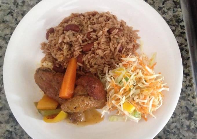 Brown stew chicken Jamaican style