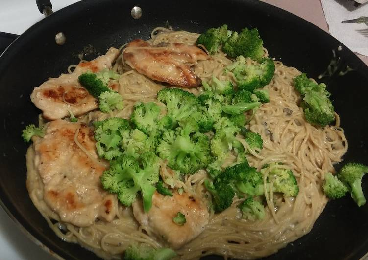 Recipe of Favorite Cream of mushroom chicken pasta