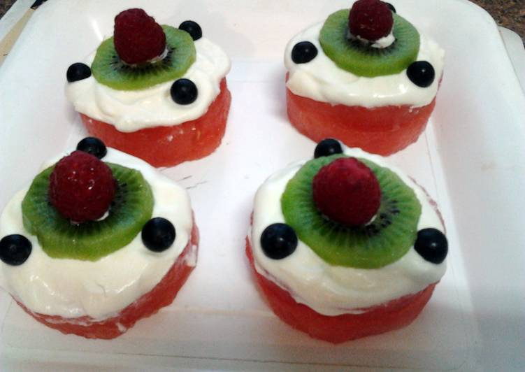 Easiest Way to Prepare Delicious Ladybirds Watermelon Cup Cakes .