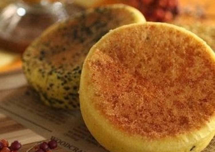 English Muffins made with Kabocha Squash