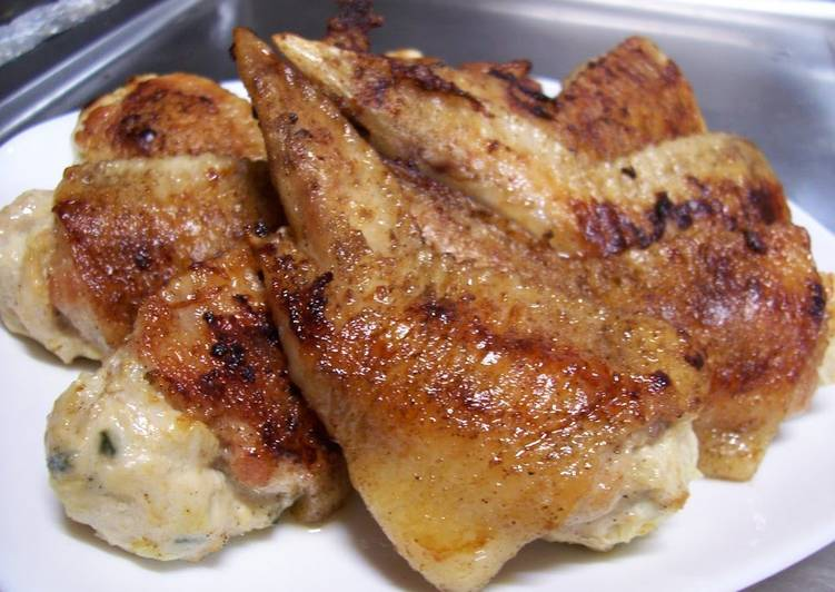 "Pan Fried, Not Deep Fried Stuffed Chicken Wings (Chicken ""Gyoza"")"