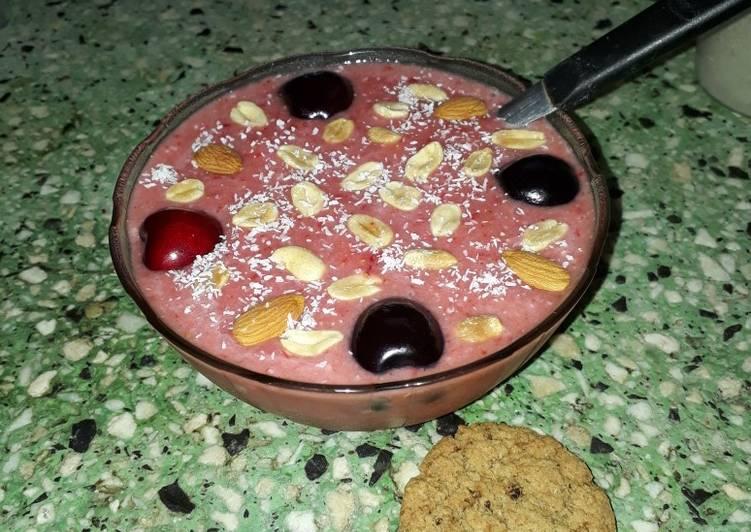 Smoothie Bowl de Frutilla #recetaentrespasos