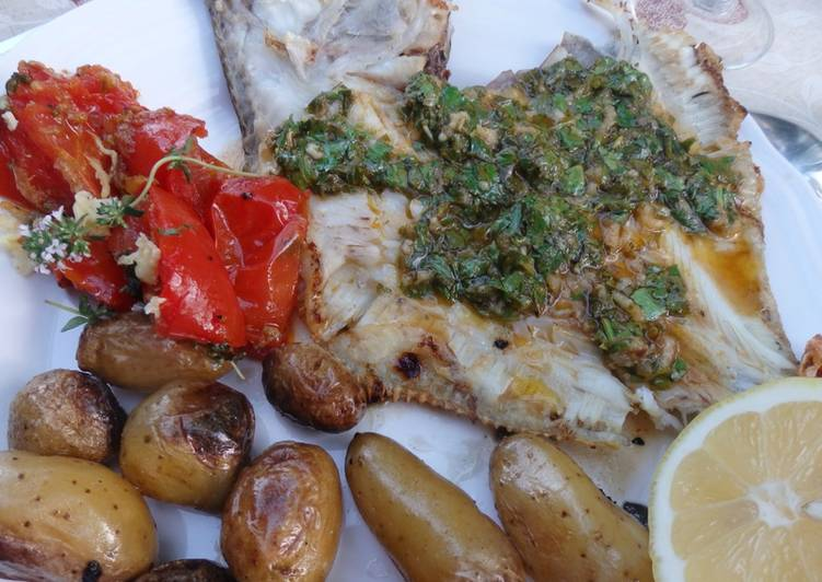 Turbot au barbecue sauce chermoula