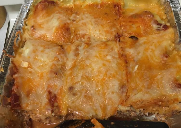 Mean Cheese lasagna