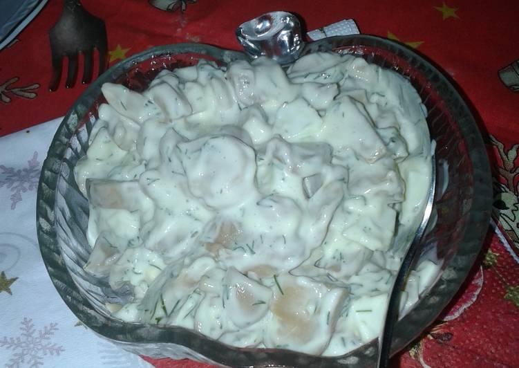Mushrooms salad with mayo