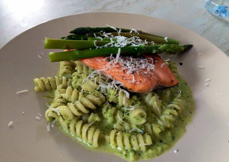 Recipe of Speedy Fresh Asparagus And Pesto Sauce For Pasta