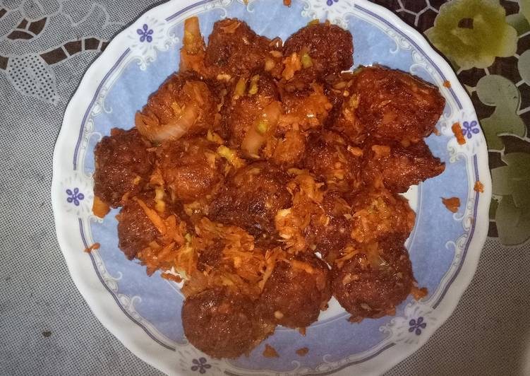 Old Fashioned Dinner Ideas Quick Veg Manchurian dry