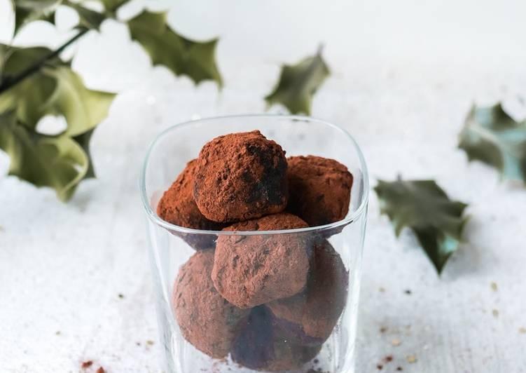 Truffes au chocolat de Noël healthy 🍫 🤩 ⠀