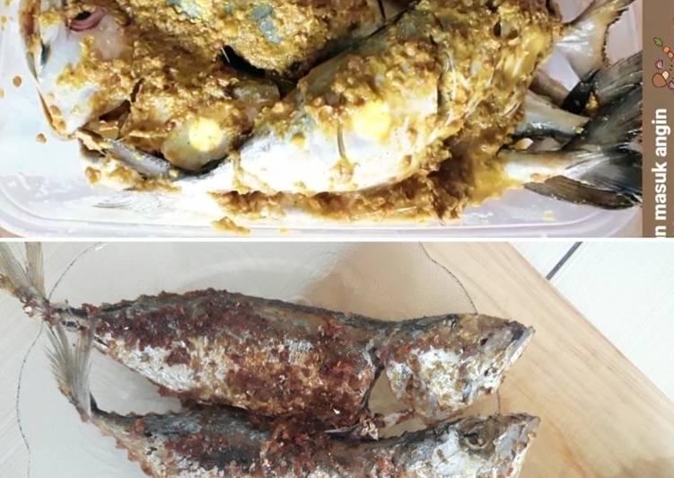 Ikan Kembung Goreng (bumbu dasar kuning)