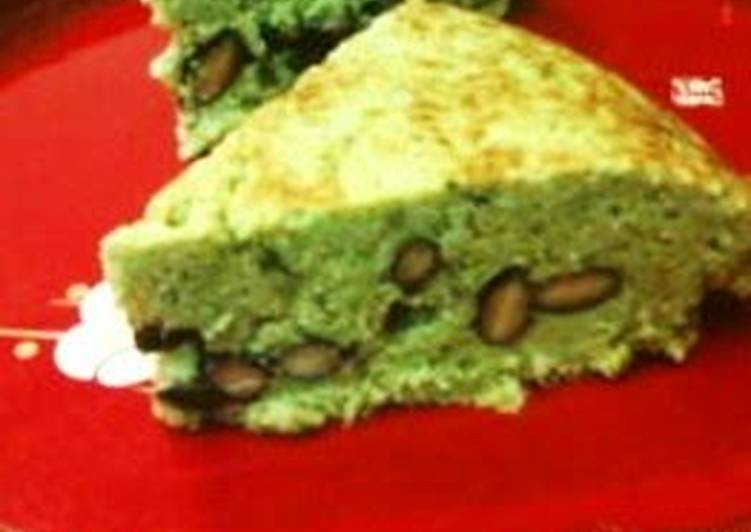 Black Soybean Matcha Tea Okara Cake Easily Made With Pancake Mix In a Rice Cooker - Laurie G Edwards
