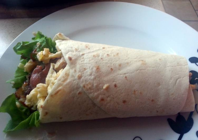 Steps to Make Super Quick Homemade Breakfast Wrap