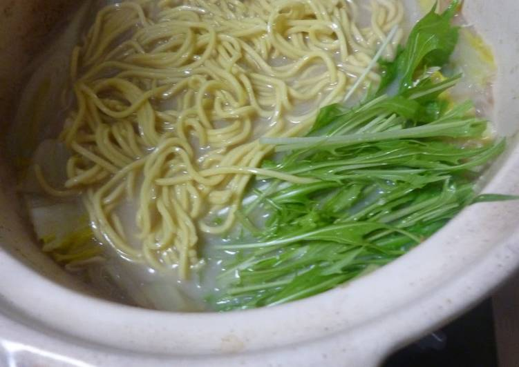 Recipe of Ultimate Sesame Soy Milk Ramen Noodles