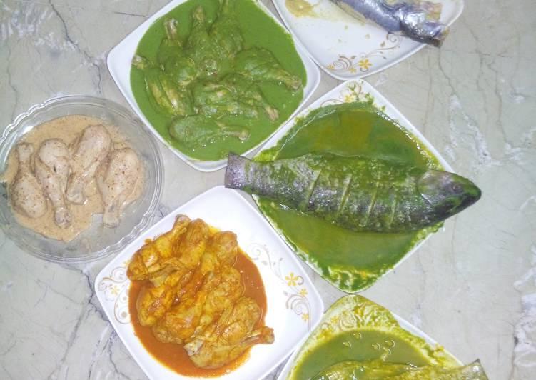 Different marinations..tasty bbq