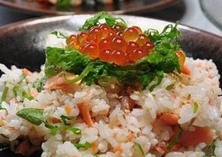Easiest Way to Make Ultimate For Summer! Salmon and Shiso Chirashi Sushi