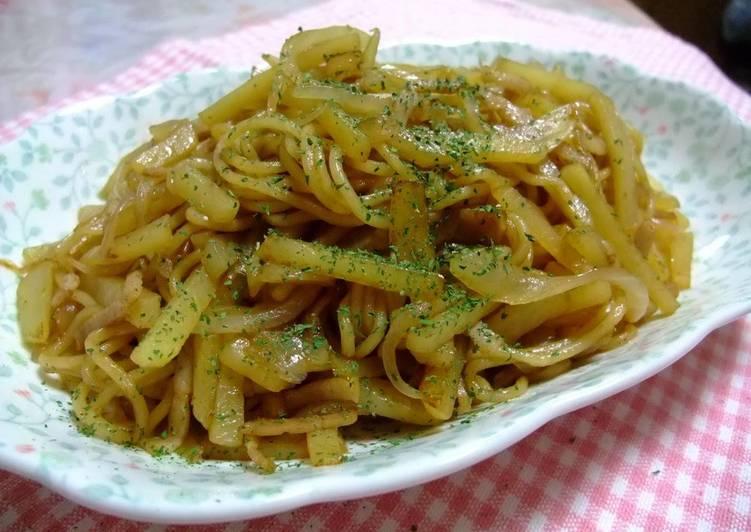 Yakisoba Noodles with Potatoes