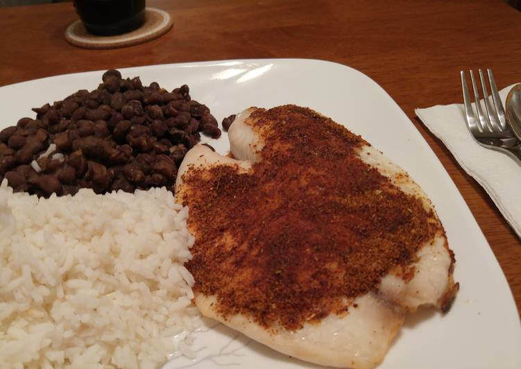 Spice Crusted Baked Tilapia