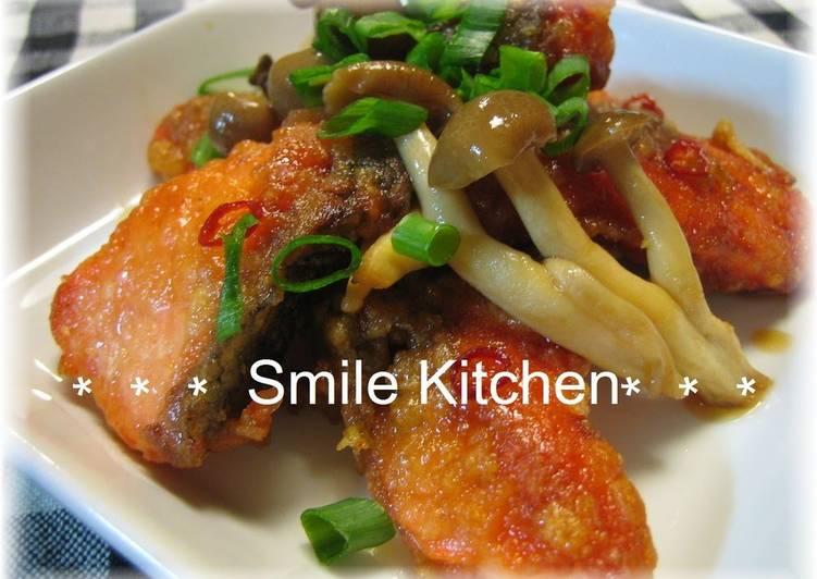 Recipe of Speedy Salmon and Mushroom Roasted Nanban