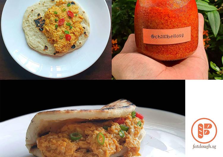 Sambal Scrambled Eggs Sandwich | Sambal Telur Hancur