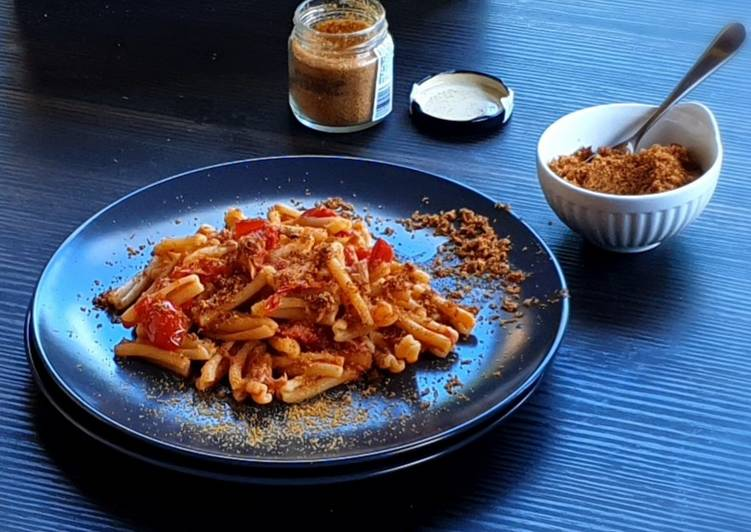 Recipe: Delicious Casareccia con tonno,bottarga e acciughe
