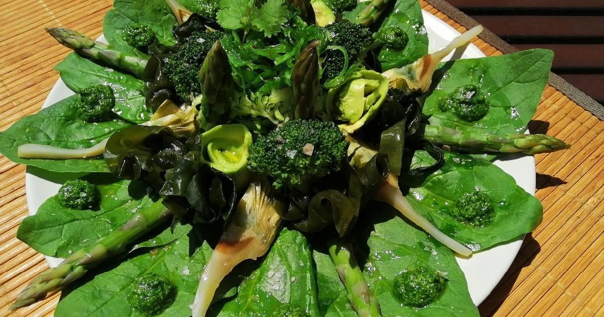 Ensalada verde de espinacas - 59 recetas caseras- Cookpad