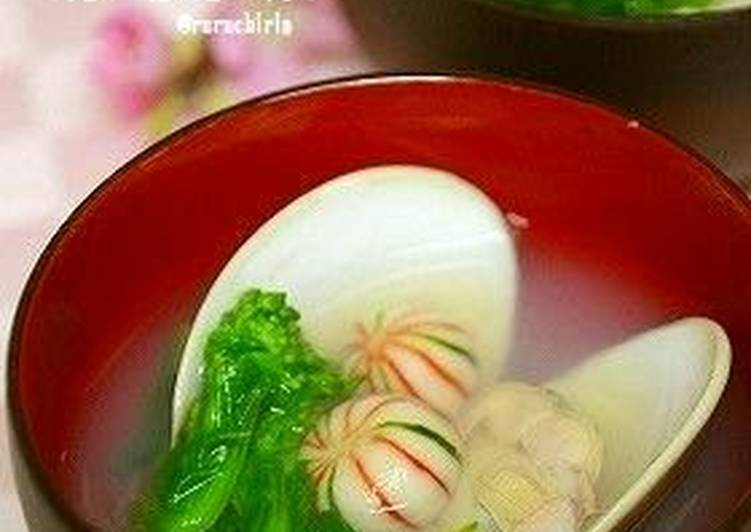 Clear Hamaguri Clam Soup For Girls' Day Festival