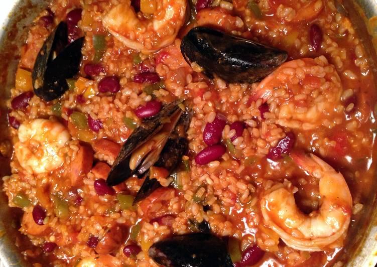 Recipe: Appetizing Seafood Jambalaya