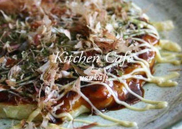 30 Minute How to Prepare Quick Okonomiyaki with Lots of Cabbage