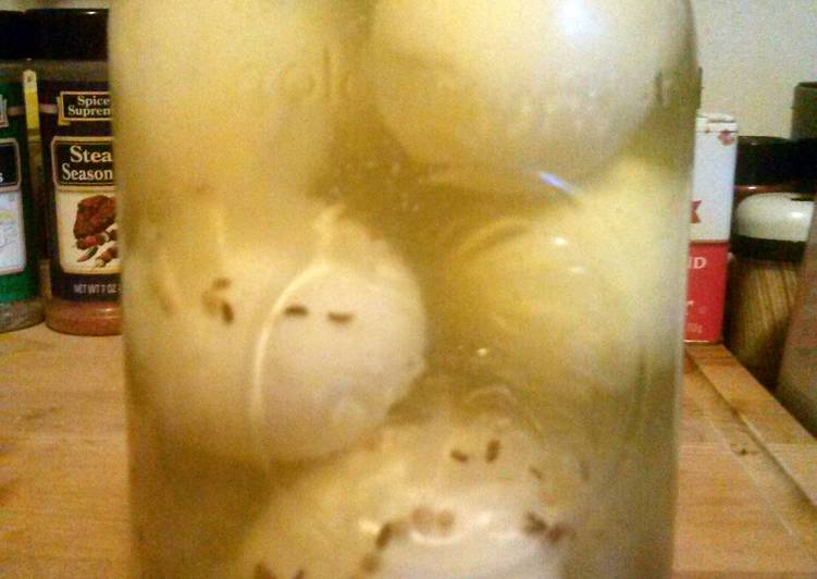 Amish Yellow Pickled Eggs