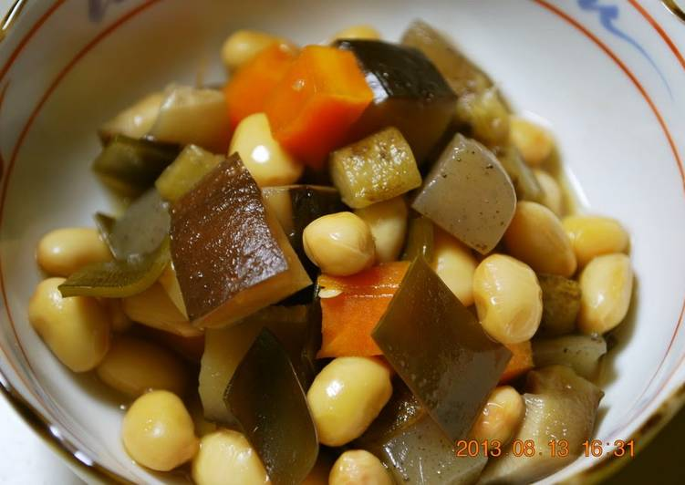 Step-by-Step Guide to Prepare Homemade Easy Basic Five-Ingredient Simmered Beans (Gomoku Mame)