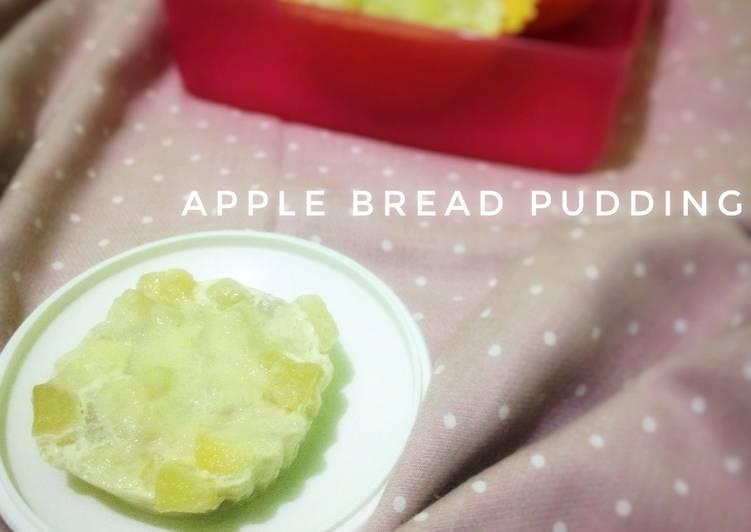 Apple bread pudding (snack MPASI 8M+)