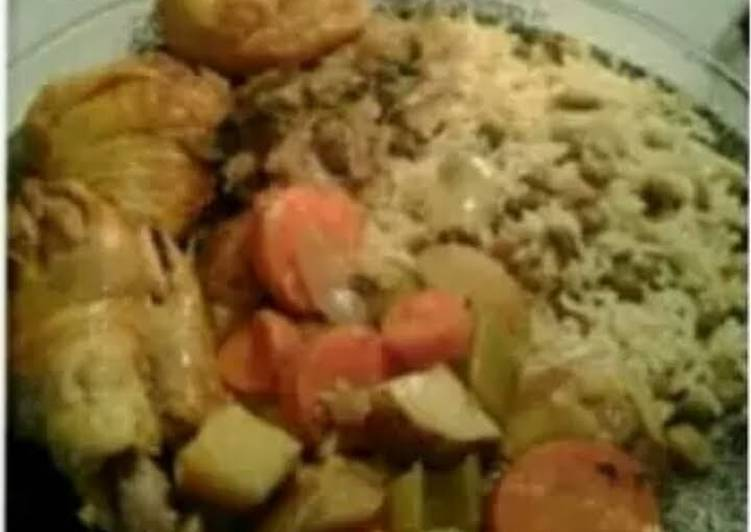 YMUSTUHATE my Jamaican curry chicken with rice & peas