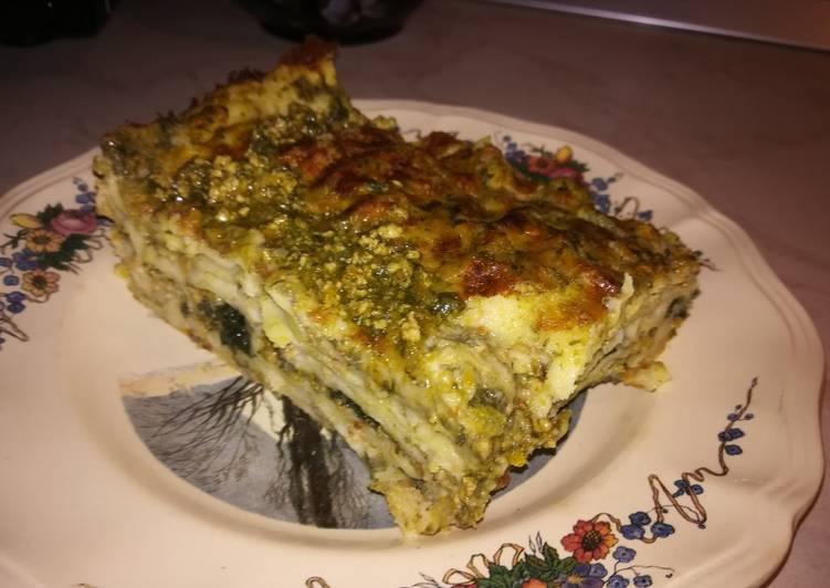 Lasagne al ragù di manzo e ortiche