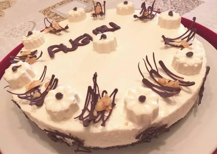 Cheesecake al cocco vestita a festa