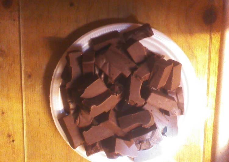 Recipe of Award-winning Easy five minute fudge. --)