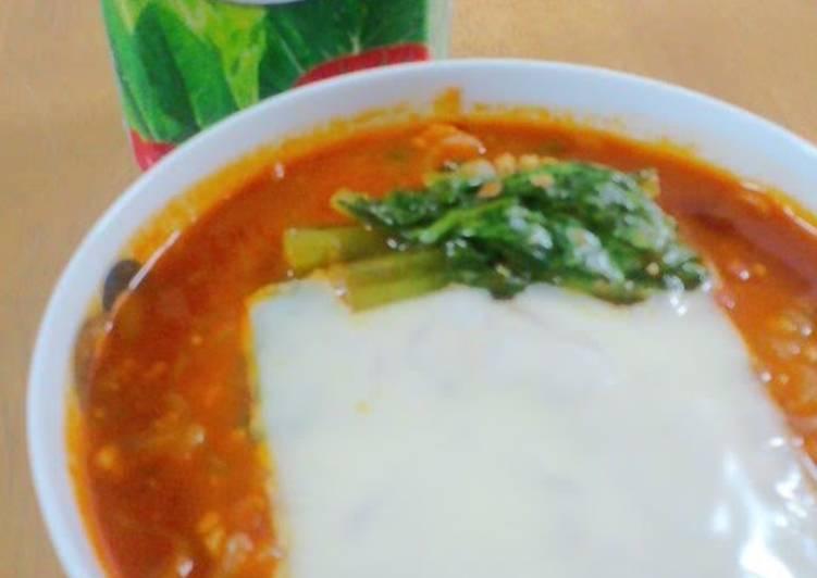 Recipe of Super Quick Homemade Low Calorie Shirataki Noodle Tomato Ramen