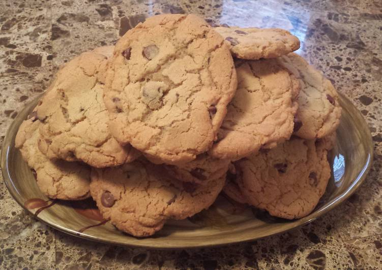 Recipe of Quick Lucs big chocolate chip cookies
