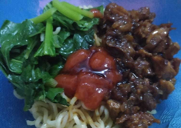 Mie ayam homemade (Indomie)