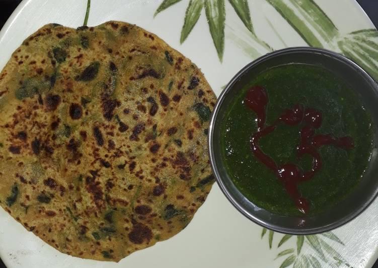 Recipe of Homemade Methi/ fenugreek paratha